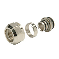 """QHPAPMMC2 - QUIKZONE and ACCUFLOW Brass Manifold Connector Nut - 3/8"""""""