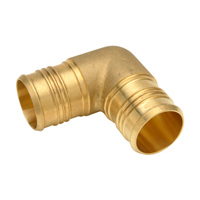 "QQE56BTGX - XL Brass Male Elbow - 1"" Barb x 1-1/4"" MPT"