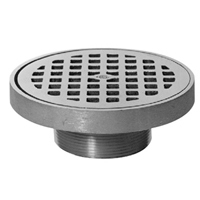 """Z400N """"Type N"""" Round Strainer with Deep Flanged Grate"""