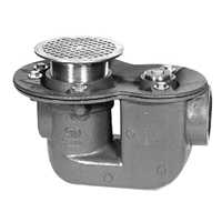 """Z455  Trap Drain with Floor Cleanout and """"Type B"""" Strainer"""