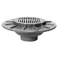"""Z534 12"""" Heavy-Duty Parking Deck Drain with Support Flange"""