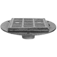 "Z537 16"" Square Top Heavy-Duty Parking Deck Drain with Support Flange"