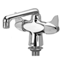 "Z826F3-XL - AquaSpec® lab faucet with 6"" spout and dome lever handles"