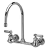 "Z842C1-XL - AquaSpec® wall-mount sink faucet with 8"" gooseneck and lever handles (lead free)"