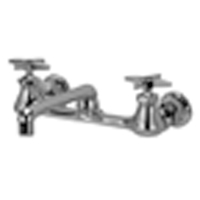 """Z842F2 - AquaSpec® wall-mount sink faucet with 6"""" cast spout and cross handles"""