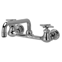 """Z842H2-XL - AquaSpec® wall-mount sink faucet with 12"""" tubular spout and cross handles (lead free)"""
