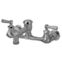 """Z842N1-RC - AquaSpec® wall-mount faucet with 6"""" vacuum breaker spout, lever handles and 3/4"""" hose end, rough chrome plated"""