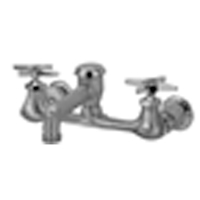"""Z842N2-RC - AquaSpec® wall-mount faucet with 6"""" vacuum breaker spout, cross handles and 3/4"""" hose end, rough chrome plated"""