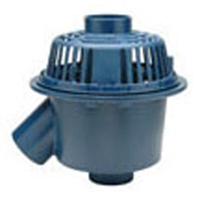 """Z103-45 15"""" Diameter Deep Sump 45° Outlet Roof Drain with Low Silhouette Dome"""
