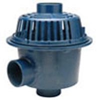 """Z103 15"""" Diameter Deep Sump Dual Outlet Roof Drain with Low Silhouette Dome"""