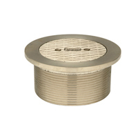"""Z400T """"Type T"""" Round Strainer with Solid Secured Cover"""