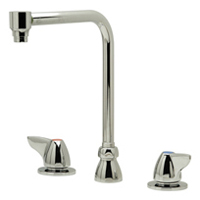 """Z831S3-ICT - AquaSpec® widespread faucet with 8"""" bent riser spout, dome lever handles and interconnecting copper tubes"""