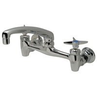 """Z843G2 - AquaSpec® wall-mount sink faucet with 8"""" cast spout and cross handles"""