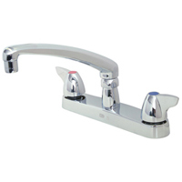 """Z871G3-XL-HS - AquaSpec® kitchen sink faucet with 8"""" cast spout with dome lever handles and hose spray"""