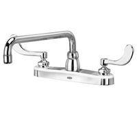 "Z871H4-XL - AquaSpec® kitchen sink faucet with 12"" tubular spout and 4"" wrist blade handles"