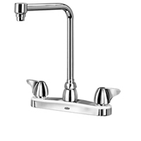 "Z871S3-XL - AquaSpec® kitchen sink faucet with 8"" bent riser spout and dome lever handles"