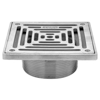 """ZS400SS Square """"Type SS"""" Stainless Steel Strainer"""