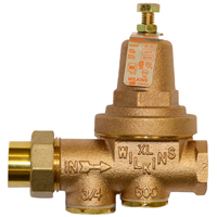 Water Pressure Reducing Valve with Integral By-pass Check Valve