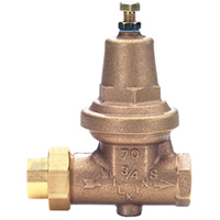 "34-70XLDUC - 3/4"" Zurn Wilkins Water Pressure Reducing Valve with Double Union Connections (copper sweat)"