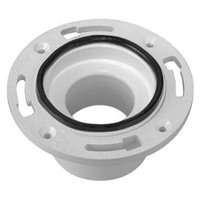 """CF2990-PVC - 3""""x4"""" PVC Closet Flange and Wax Ring Replacement Seal"""