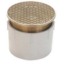"""CO2450-AB2 - 2"""" ABS Adjustable Cleanout with Nickel Top"""
