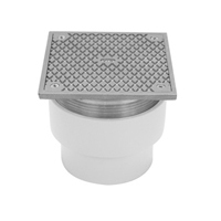 """CO2451-ABS-ST - 3""""x4"""" ABS Adjustable Floor Cleanout with Square Top"""