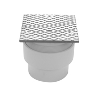 "CO2452-ABS-ST - 3""x4"" ABS Adjustable Finished Area Cleanout with Square Top"
