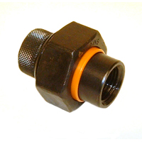 Dielectric Union with Iron Oxide Coating