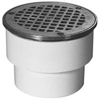 FD2211 3x4 SW - PVC Nickel Adjustable Floor Drain