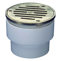 "FD2212-ABS - 3""x4"" ABS, Round, Adjustable Floor Drain"