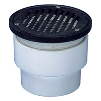 "FD2213-ABS - 3""x4"" ABS, Round, Adjustable Floor Drain"