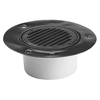 "FD2240-AB2 -  2"" ABS, Round, Cast Iron, Wood Deck Drain"