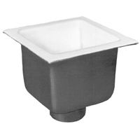 "FD2376-NH4 - 4"" No-Hub Floor Sink Body with  8"" Sump Depth"