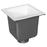 "FD2377-NH2 -  2"" No-Hub Floor Sink Body with 10"" Sump Depth"