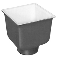 "FD2378-NH2 -  2"" No-Hub Floor Sink Body with 6"" Sump Depth"