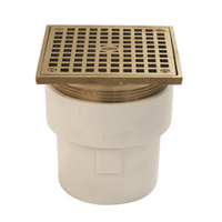 "FD2211-PVC-ST - 3""x4"" PVC, Square, Adjustable Floor Drain"