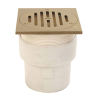 """3"""" x 4"""" Finished Area Adjustable Floor Drain with Square Top"""