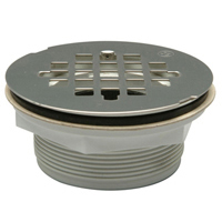 FD2275-PVC PVC or ABS No-Caulk Shower Stall Drain