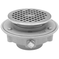 "FD2321-IP2 - 2"" Cast Iron, Threaded, Low Profile, Adjustable Floor Drain with Clamp Collar"