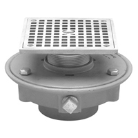 FD2321-ST Low Profile Floor Drain with Square Top