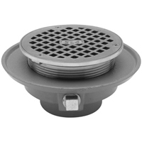 "FD2322-NH4 - 4"" Cast Iron, No-Hub, Low Profile, Adjustable Floor Drain"