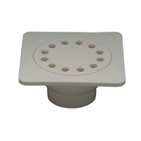 "FD2380-PVC - 6""x6"" PVC Bell Trap Assembly Drain"