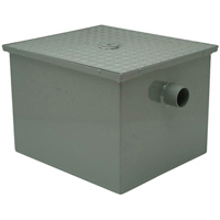 "GT2700-50-3NH - 50GPM 3"" No-Hub Grease Trap with Flow Control"