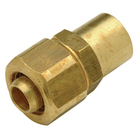 QHA__F Brass Sweat Adapter
