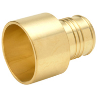 "QQ975GX - XL Brass Sweat Adapter - 2"" Male Sweat x 2"" Barb"