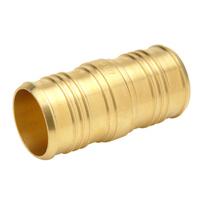 """QQC65GX - XL Brass Coupling - 1-1/4"""" Barb x 1"""" Barb"""