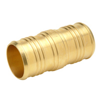 "QQC75GX - XL Brass Coupling - 1-1/2"" Barb x 1"" Barb"