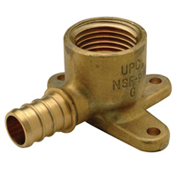 QQDE33BFGX - Brass Drop Ear Elbow