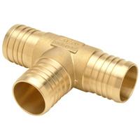 """QQT777GX - XL Brass Tee - 1-1/2"""" Barb"""