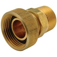 "XL Brass Swivel Adapter - 3/4"" MIP x 1"" FPT"